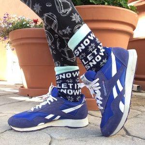 Reebok Old-school Blue Athletic Shoes